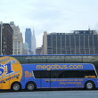 Megabus in midtown Manhattan — Stock Photo #38829059