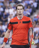Two times Grand Slam champion Andy Murray during fourth round match at US Open 2013 against Denis Istomin at Arthur Ashe Stadium — Stock Photo
