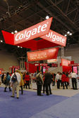 Colgate booth at the Greater NY Dental Meeting in New York — Stock Photo