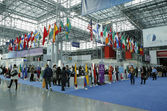 Registration area at the Greater New York Dental Meeting at Javits Center — Stock Photo