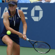 Professional tennis player ElinSvitolinfrom Ukraine during second round match at US Open 2013 against ChristinMcHale — Stock Photo #38888547