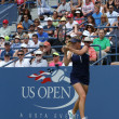Professional tennis player ElinSvitolinfrom Ukraine during second round match at US Open 2013 against ChristinMcHale — Stock Photo #38888551