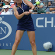 Professional tennis player ElinSvitolinfrom Ukraine during second round match at US Open 2013 against ChristinMcHale — Stock Photo #38888553