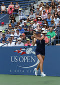 Professional tennis player Elina Svitolina from Ukraine during second round match at US Open 2013 against Christina McHale — Stock Photo