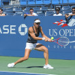 Professional tennis player AndrePetkovic from Germany practices for US Open 2013 at Billie JeKing National Tennis Center — Foto de stock #38893037