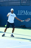 Professional tennis player Donald Young practices for US Open 2013 at Billie Jean King National Tennis Center — Stock Photo