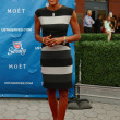 Stock Photo: TV anchor Robin Roberts at the red carpet before US Open 2013 opening night ceremony at USTA Billie Jean King National Tennis Center