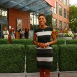 TV anchor Robin Roberts at the red carpet before US Open 2013 opening night ceremony at USTA Billie Jean King National Tennis Center — Stock Photo #38949587