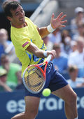 BI6T5770Professional tennis player Ivan Dodig during third round singles match at US Open 2013 — Stock Photo