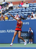 Grand Slam champion Ana Ivanovich during third round match at US Open 2013 against Christina McHale at Billie Jean King National Tennis Center — Stock Photo
