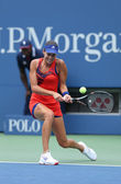 Grand Slam champion Ana Ivanovich during third round match at US Open 2013 against Christina McHale at Billie Jean King National Tennis Center — Стоковое фото