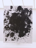 Untitled painting by Christopher Wool on display in Solomon R Guggenheim Museum of modern and contemporary art in New York — Stock Photo
