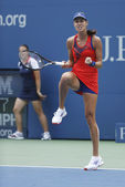 Grand Slam champion Ana Ivanovich during fourth round match at US Open 2013 against Victoria Azarenka at Billie Jean King National Tennis Center — Стоковое фото