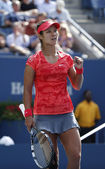 Grand Slam champion Na Li during quarterfinal match at US Open 2013 against Ekaterina Makarova at Billie Jean King National Tennis Center — Foto de Stock
