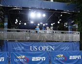 ESPN broadcast station at USTA Billie Jean King National Tennis Center during US Open 2013 — Stock Photo