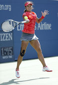 Grand Slam champion Na Li during quarterfinal match at US Open 2013 against Ekaterina Makarova at Billie Jean King National Tennis Center — ストック写真