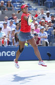 Grand Slam champion Na Li during quarterfinal match at US Open 2013 against Ekaterina Makarova at Billie Jean King National Tennis Center — Foto Stock