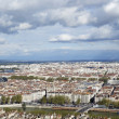 Stock Photo: Aerial view of Lyon from Fourviere Hill