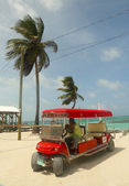 Taxi service at Caye Caulker, Belize — Stock Photo