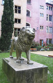 The lion at the Place de la Basoche in Vieux Lyon, France — Stock Photo
