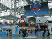 Registration area at the Greater NY Dental Meeting at Javits Center in New York — Stock Photo