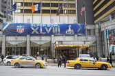 Sheraton New York welcomes visitors during Super Bowl XLVIII week in Manhattan — Stock Photo
