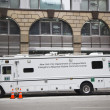 Stock Photo: New York City Department of Transportation Emergency Response mobile command center during Super Bowl XLVIII week near Times Square in Midtown Manhattan