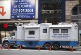New York State Division of Homeland Security and Emergency Services mobile command center during Super Bowl XLVIII week near Times Square in Midtown Manhattan — Stock Photo