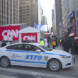 Stock Photo: NYPD providing security on Broadway during Super Bowl XLVIII week in Manhattan