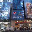 Pepsi Official Soft Drink of Super Bowl XLVIII billboard on Broadway during Super Bowl XLVIII week in Manhattan — Stock Photo #40126941