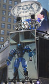 Fox Sports broadcast set on Times Square during Super Bowl XLVIII week in Manhattan — Stock Photo
