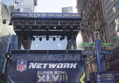 NFL Network broadcast set on Broadway during Super Bowl XLVIII week in Manhattan — Stock Photo