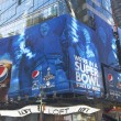 Pepsi Official Soft Drink of Super Bowl XLVIII billboard on Broadway during Super Bowl XLVIII week in Manhattan — Stock Photo #40131217