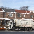 New York Department of Sanitation truck cleaning streets in Brooklyn after massive winter storms — Stock Photo #40393903