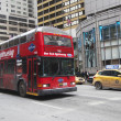 Постер, плакат: New York Sightseeing Hop on Hop off bus in Manhattan