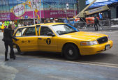 New York City Taxi at the Times Square — Stock Photo