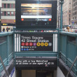 Times Square 42 St Subway Station entrance in New York — Stock Photo #40452813