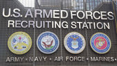 U.S. Armed Forces Recruiting Station in Times Square, New York — Stock Photo