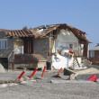 Destroyed beach houses in the aftermath of Hurricane Sandy — ストック写真