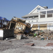 Destroyed beach houses in the aftermath of Hurricane Sandy — Zdjęcie stockowe