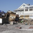 Destroyed beach houses in the aftermath of Hurricane Sandy — Foto Stock