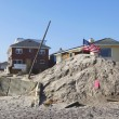 Destroyed beach houses in the aftermath of Hurricane Sandy — Photo
