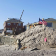 Destroyed beach houses in the aftermath of Hurricane Sandy — Stockfoto