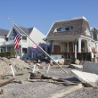 Destroyed beach houses in the aftermath of Hurricane Sandy — Stockfoto #40495723