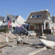 Destroyed beach houses in the aftermath of Hurricane Sandy — Stok fotoğraf #40495723