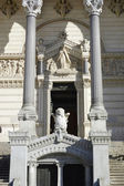 Entrance to the Basilica of Notre-Dame de Fourviere in Lyon — Stock Photo