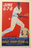 Vintage 1941 tennis poster for tournament played on June 6-8, 1941 in Forrest Hills, New York — Stock Photo
