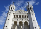 The Basilica of Notre-Dame de Fourviere in Lyon — Stock Photo