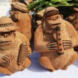 Local Souvenirs made from coconut in Punta Cana, Dominican Republic — Stock Photo