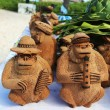 Local Souvenirs made from coconut in Punta Cana, Dominican Republic — Stock Photo #40581127
